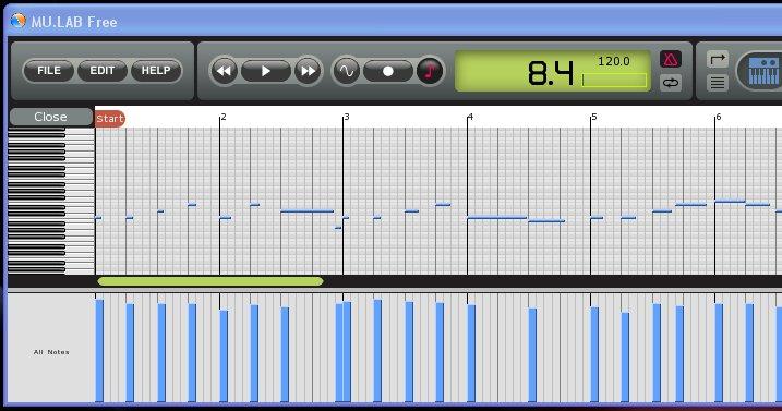 MULAB Recording MIDI Sequences